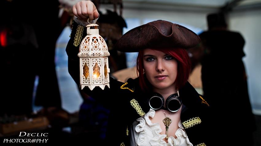 portrait artiste model photographe pirate steampunk lampe